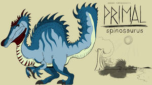 Genndy tartakovsky primal spinosaurus style.