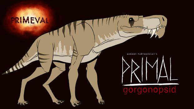 Primeval gorgonopsid in primal.