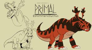 Genndy tartakovsky primal Estemmenosuchus style
