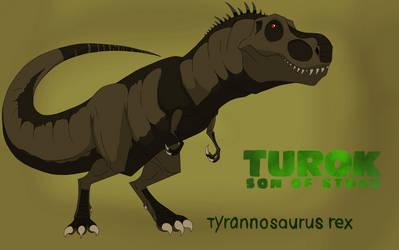 If Turok son of stone had a tyrannosaurus rex. by LilburgerD4