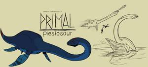 Genndy tartakovsky primal plesiosaur style.
