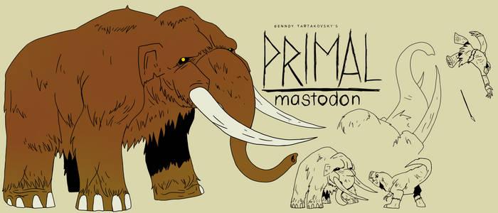 Genndy tartakovsky primal mastodon style.