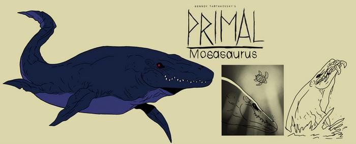 Genndy tartakovsky primal mosasaurus style
