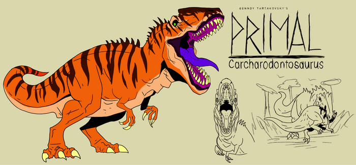 Genndy tartakovsky primal carcharodontosaurus st.