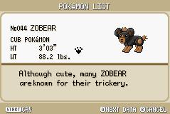 ZOBEAR by PokemonStarVersion