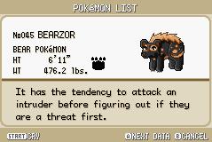BEARZOR by PokemonStarVersion
