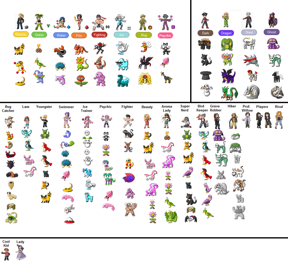 These would have made some awesome gym leader sprites