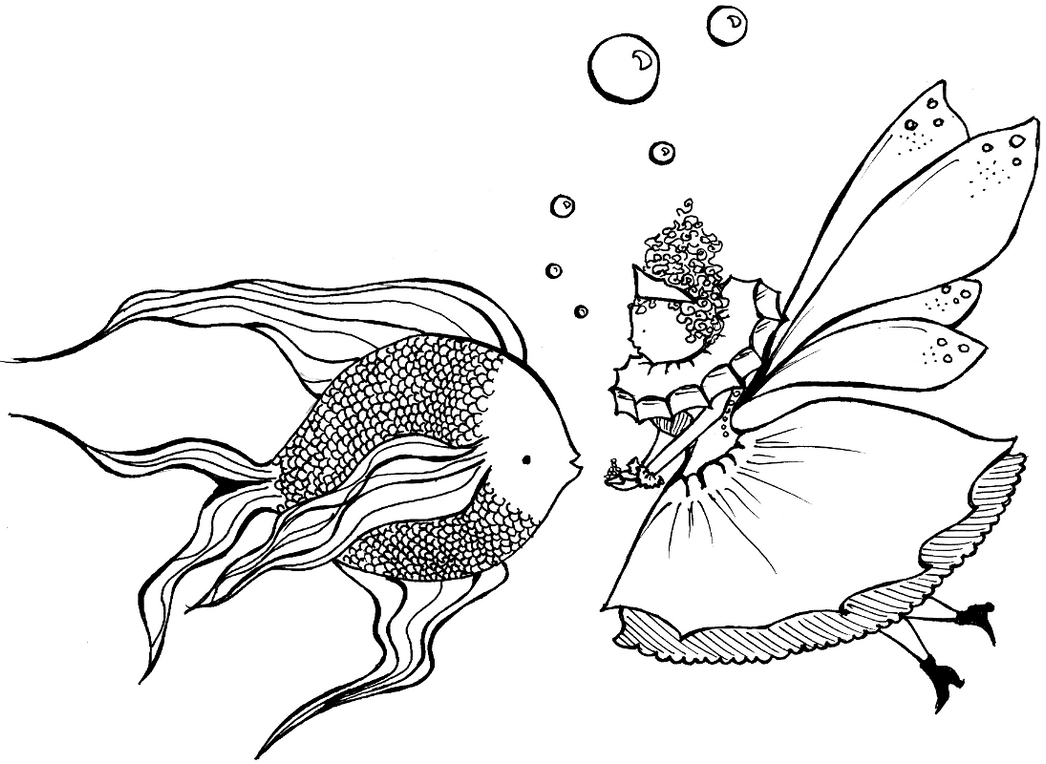 1 fish 2 fish 3 fish free coloring pages for One fish two fish coloring page