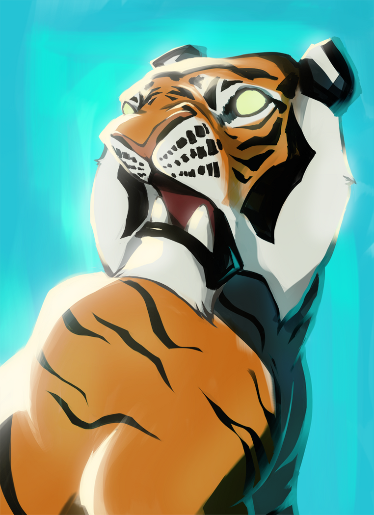 Tiger portrait by Keithalia