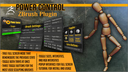 Power Control ZBrush Plugin by J-o-r-d-i