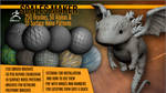Scales Maker: 250 ZBrush Brushes, 50 Alphas by J-o-r-d-i