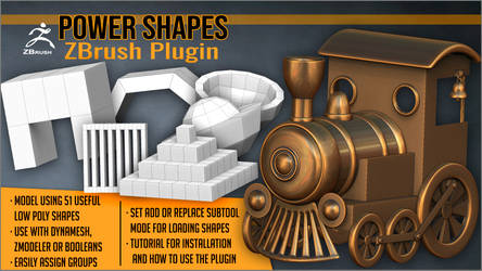 Power Shapes ZBrush Plugin by J-o-r-d-i