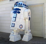 Cardboard and Duct Tape R2D2