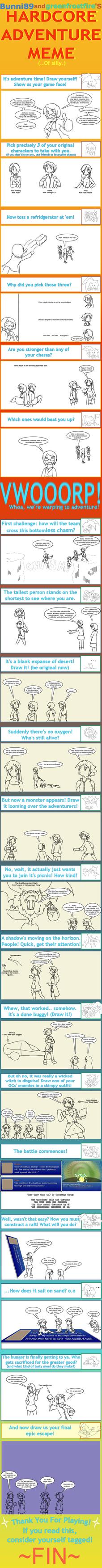 Very Late Hardcore Adventure Meme by JocelynSamara
