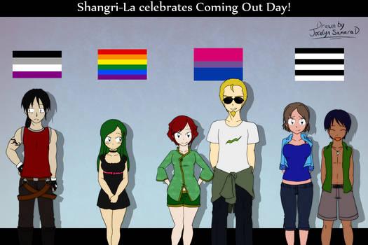 Shangri-La celebrates Coming Out Day! by JocelynSamara