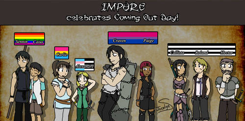 Impure celebrates Coming Out Day by JocelynSamara