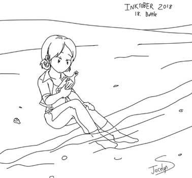 Inktober 2018 - 18. Bottle by JocelynSamara