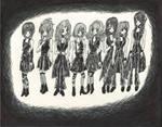 Morning Musume Tim Burton Style by DarkCloudXERO
