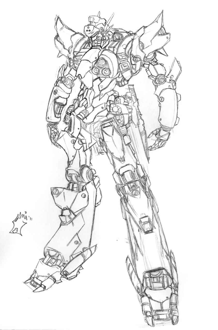 Mecha concept A by Seig-Warheit