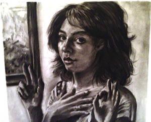 self portrait -- life drawing (cu)