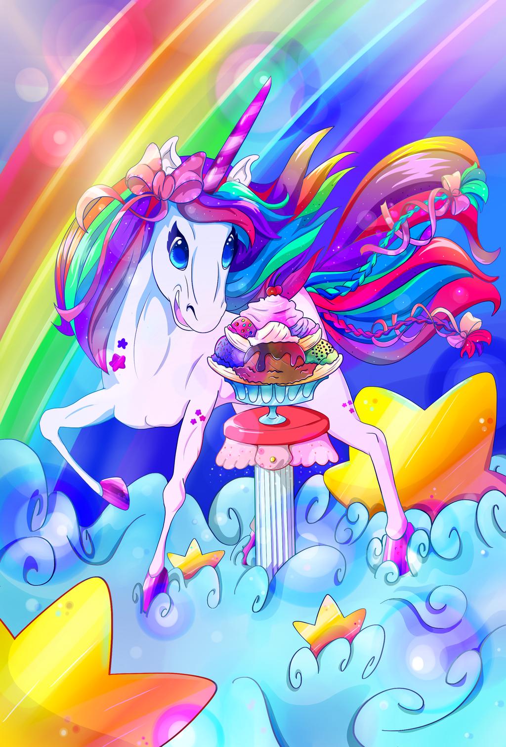 commission lisa frank unicorn by moreven on deviantart