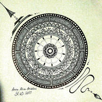 Feathery Mandala by Anna-Alice
