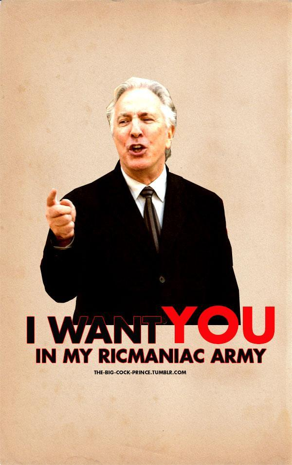 Rickman wants YOU! by MarySeverus