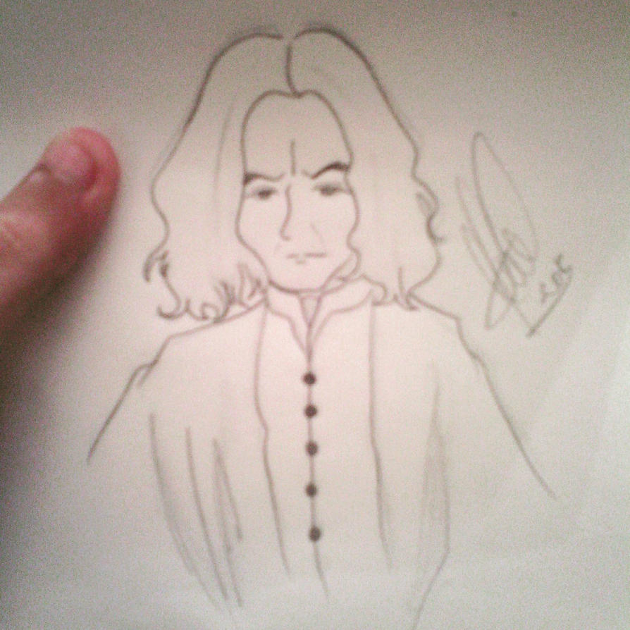Quick Snape drawing by MarySeverus