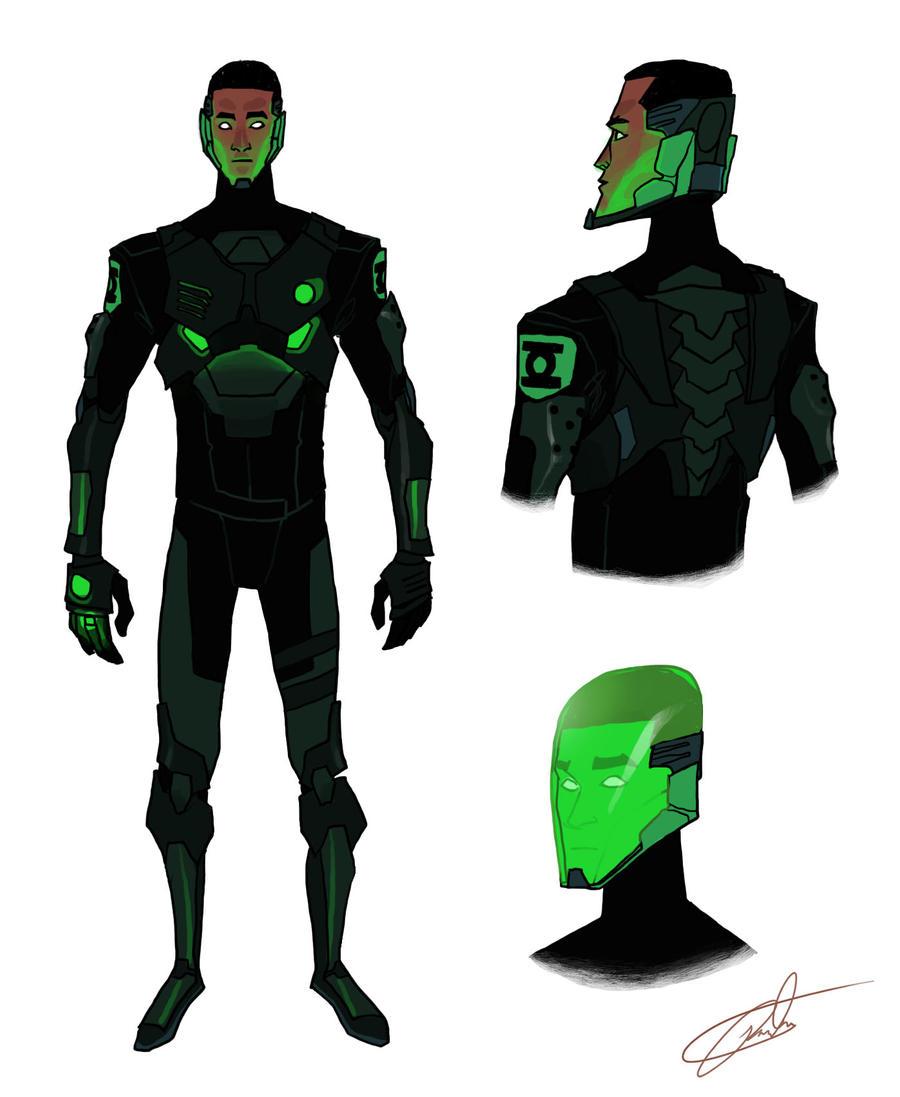PR Green Lantern redesign by JohntheMurray