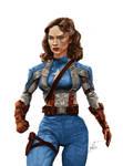 Agent Carter as Captain America