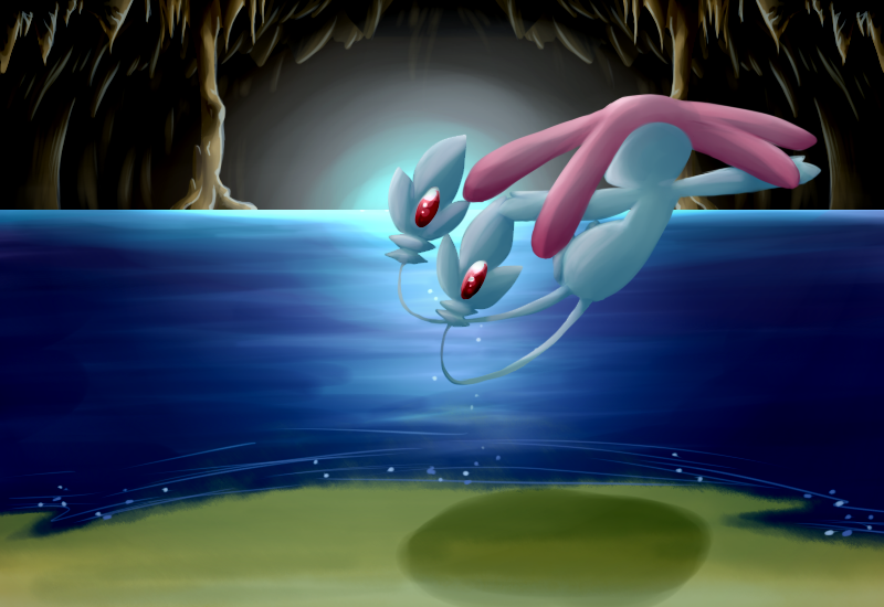 Underground Lake by SkittyStrawberries