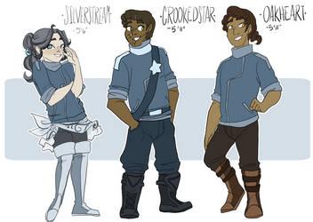 Crookedstar family (Human) by Skitea