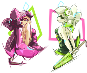 Squid Sisters by Skitea