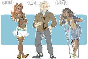 Human Brightheart Cloudtail and Cinderpelt by Skitea