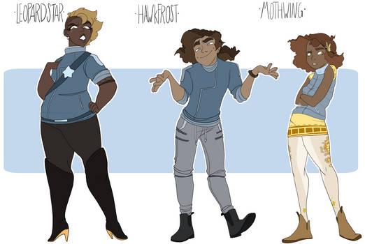 Human Leopardstar Hawkfrost and Mothwing