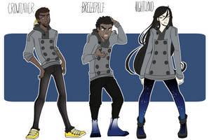 Human Crowfeather Breezepelt and Nightcloud