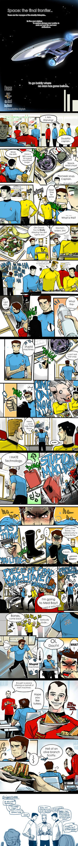 ST_comic: Bones vs the Food Replicator by applepie1989