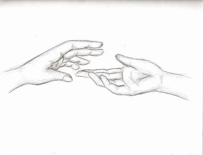 Line Drawing Holding Hands : Slipping away by forever sam on deviantart