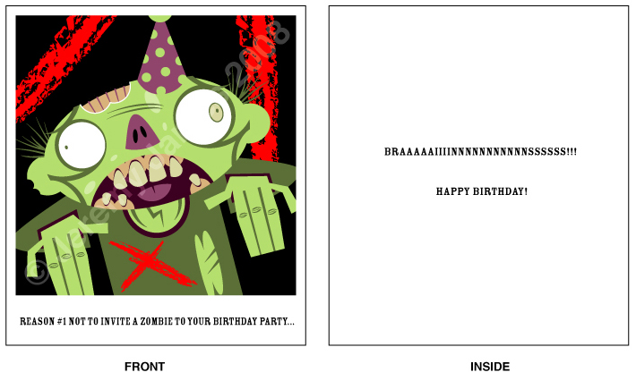 Zombie Birthday Card by Hobbit1978