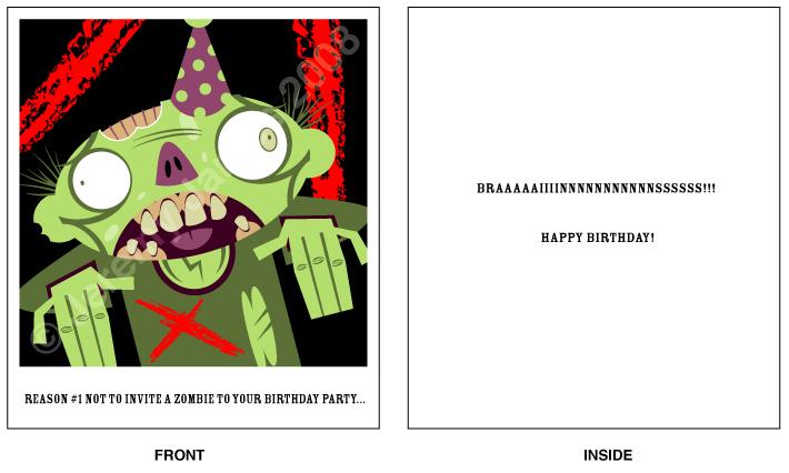 Zombie birthday card by hobbit on deviantart