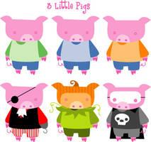 3 little pigs by Hobbit1978