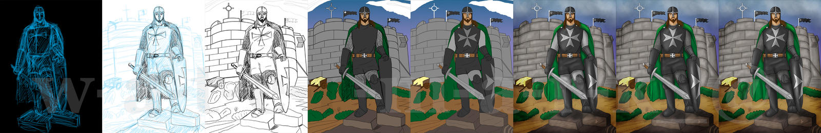 Knights Hospitaller Frappiller Work Flow by jornas