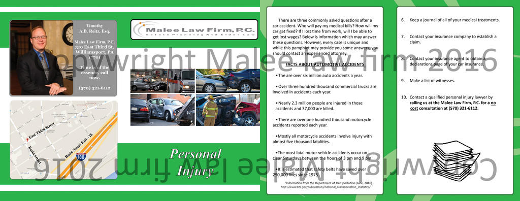 Personal Injury handout (outside  inside cover) by jornas