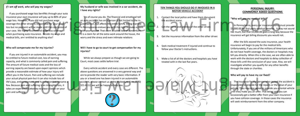 Personal Injury handout (inside  outside insert) by jornas