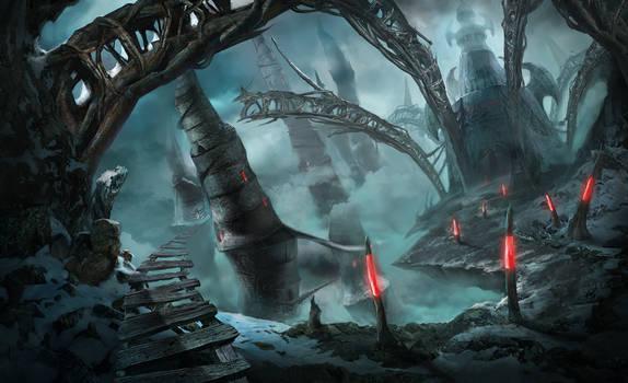 Nightmare city by Uolja