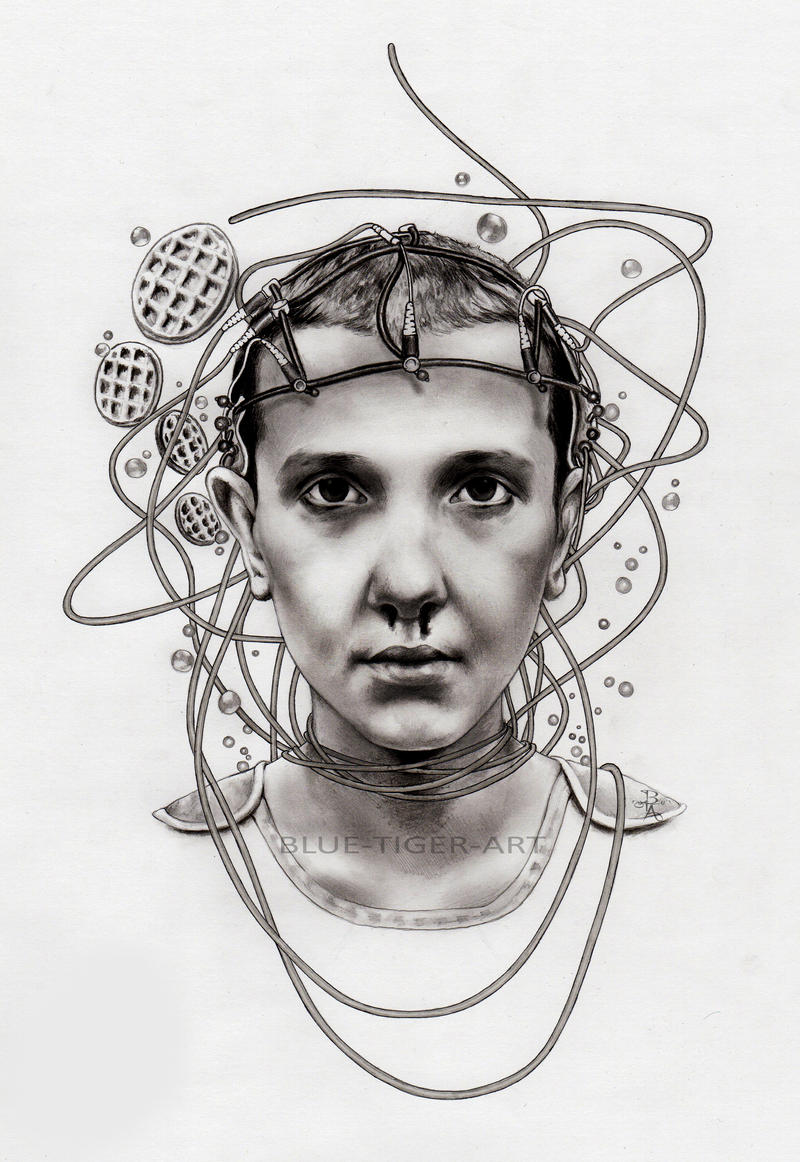 Eleven stranger things by blue tiger art on deviantart for Eleven tattoo stranger things