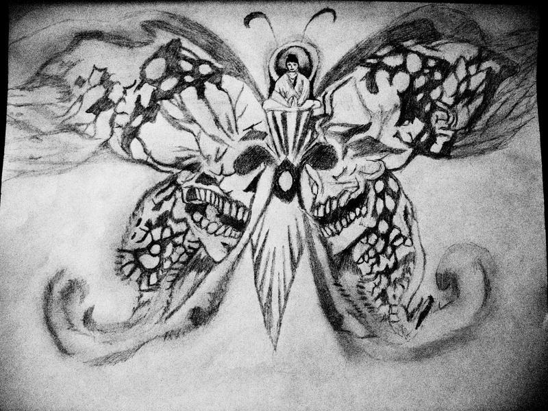 Skull Buddha Butterfly...