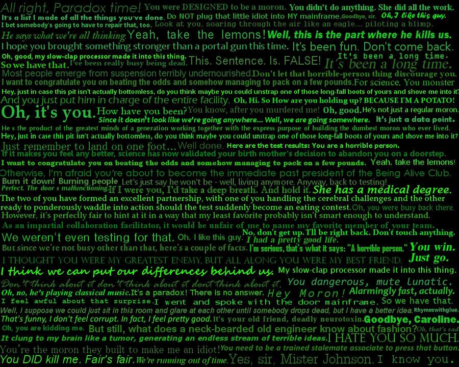 GLaDOS Quotes by drago...