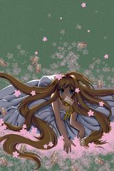Lady, sakura and cards by xKyanari