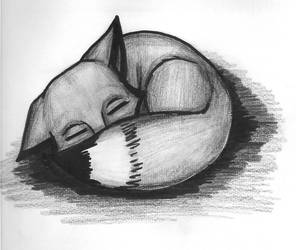 Sleeping Kitsune by Mazu